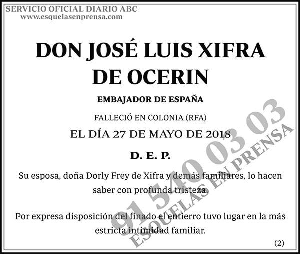 José Luis Xifra de Ocerin